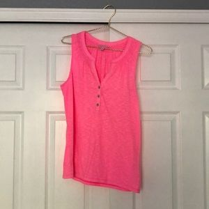 Lilly Pulitzer henley tank top